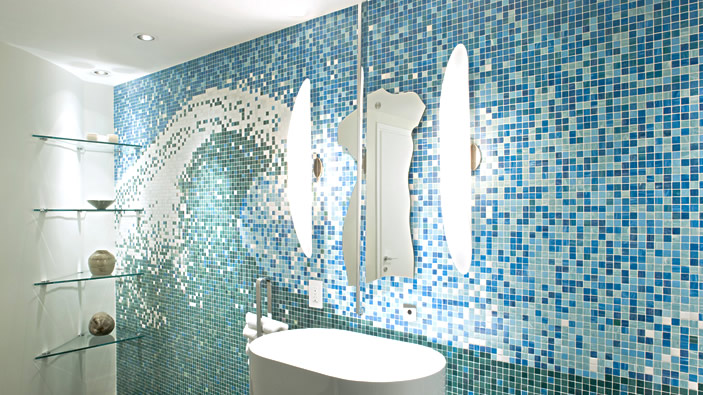 carrelage mosaique salon