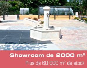 Showroom de 2000m². Plus de 60000m² de stock.